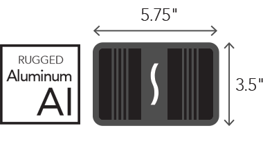Rugged Aluminum and Dimensions Icons